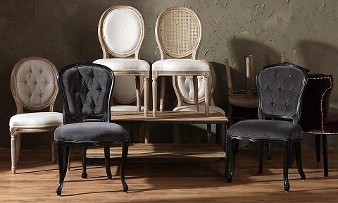 Aktualne Krzesła w stylu prowansalskim - Lawendowy Kredens BI95